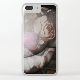 FLORAL NUDE Clear iPhone Case