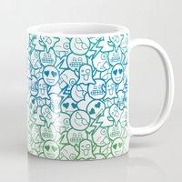emoji Mugs featuring Doodle - Emoji Love by Dibujados