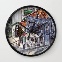 portugal Wall Clocks featuring Buarcos, Portugal by Claire Nelson-Esch