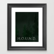 No. 5. H.O.U.N.D. Framed Art Print
