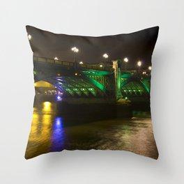 The Southwark Bridge at night Throw Pillow