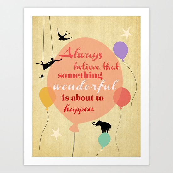 something wonderful Art Print