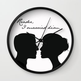 Jane Eyre: Reader, I married him Wall Clock