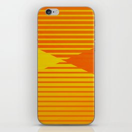 Yellow stripes and balls ... iPhone Skin