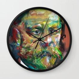 SIGMUND FREUD - watercolor portrait.2 Wall Clock