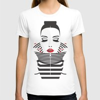 striped T-shirts featuring striped by Yordanka Poleganova