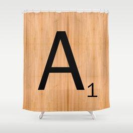 Scrabble Letter Tile - A Shower Curtain