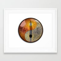 yin yang Framed Art Prints featuring yin yang by Vector Art