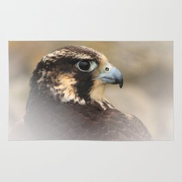 Vignetted Profile of a Peregrine Falcon Rug