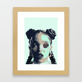 FKA TWIGS LINE DRAWING Framed Art Print