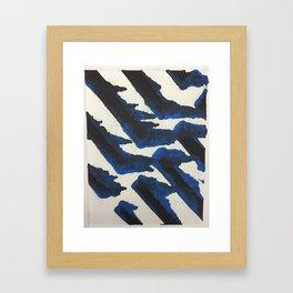 Blue Print Framed Art Print