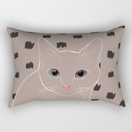 Cat stare Rectangular Pillow