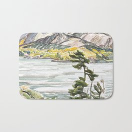 Franklin Carmichael - Lake La Cloche - Canada, Canadian Watercolor Painting - Group of Seven Bath Mat