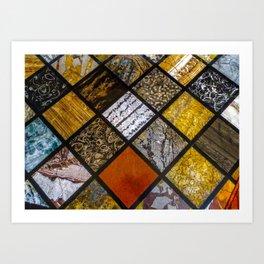Textures. Art Print