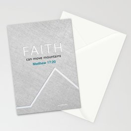 Faith Moves Mountains Stationery Cards