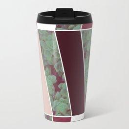 Plum Herringbone #society6 #plum #succulent Travel Mug
