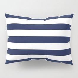 Nautical Navy Blue and White Stripes Pillow Sham