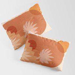 Abstraction_SUN_STAIR_PLANTS_POP_ART_Minimalism_096A Pillow Sham