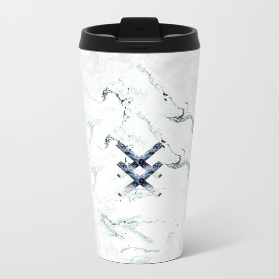 Scandinavian Marble Metal Travel Mug