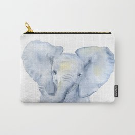 Baby Elephant Watercolor Carry-All Pouch