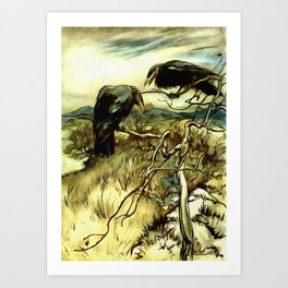 The Two Crows Art Print