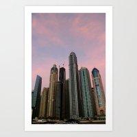 Dubai Marina Skyscrapers  Art Print