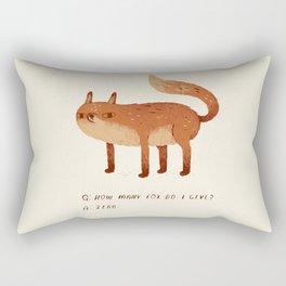 zero fox given Q and A Rectangular Pillow