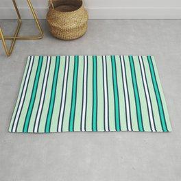Mint stripes Rug
