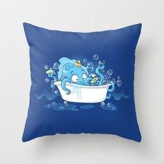 Kracken Bath Throw Pillow