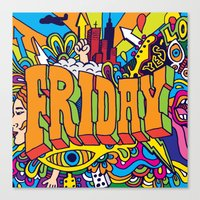 friday Canvas Prints featuring Friday by Roberlan Borges