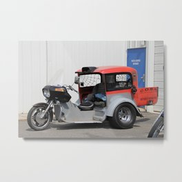 Old Biker Metal Print