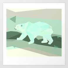 Polarygon Bear Art Print
