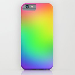 Bright Colorful Rainbow Ombre Design! iPhone Case