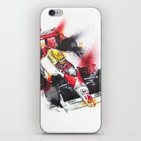 senna iPhone & iPod Skins featuring Senna, a true hero. by Claeys Jelle Automotive Artwork