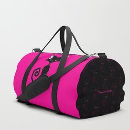 Black Cat - Hot Pink Duffle Bag