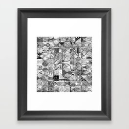 The Letter F Framed Art Print