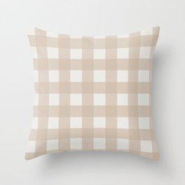 Gingham Cloth / Beige Checks Throw Pillow