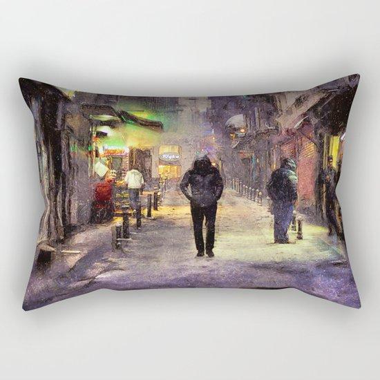 City Snow Walk Rectangular Pillow