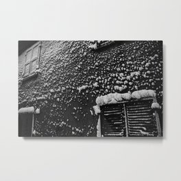 PRETTY PLEASE WITH SNOW ON TOP Metal Print