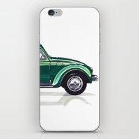 volkswagen iPhone & iPod Skins featuring Volkswagen Beetle by BSJC Automotive Art