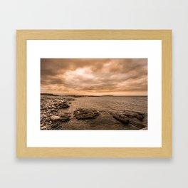 Sea Sky & Stone Framed Art Print