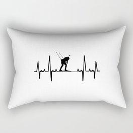Biathlon Heartbeat T Shirt Biathlon Competition TShirt Biathlete Coach Shirt Heart Beat Gift Idea Rectangular Pillow