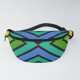 VooDoo Green Rainbow Stripes Fanny Pack