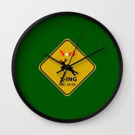 Noel X-ING (Rudolph Crossing) Wall Clock