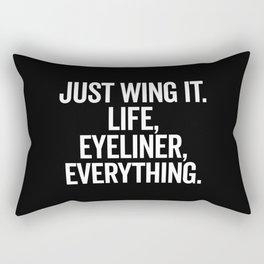 Just Wing It Funny Quote Rectangular Pillow