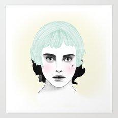 Fashion Illustration - Chanel Green Art Print