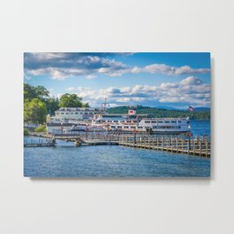 Docked at Weirs Beach Metal Print