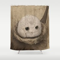 bubble Shower Curtains featuring Bubble by Mye Lim