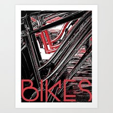 Bikes Poster (a) Art Print
