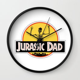Jurassic Dad Dinosaur Skeleton Funny Birthday Gift 2 Wall Clock